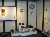 Minna mask corner with gondola tengu (by Ms Moriyama) floating above