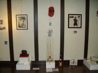 International tengu art display - from Austria, England, Japan, and Egypt.