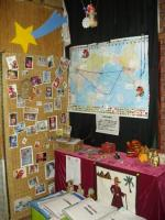 Tengu display corner in theatre (world trip tengus, Egyptian tengu art, etc)