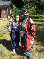 Hachibei (Mugi Yamato) and Yokubari Tengu (Yukino Ikeda)