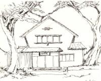 Sketch of our theater by Masaaki Chishima