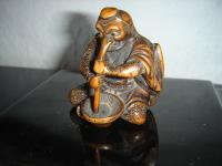 tengu netsuke (carved ivory)